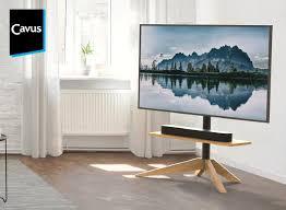 ein stück natur im wohnzimmer tv ständer mit holzgestell