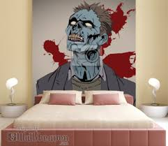 Wall Mural Zombie Bust