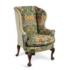 Strandmon Wing Chair Green by Furniture Small Wingback Chair In Floral Pattern With Brown