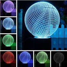 Battery Operated Desk Fan Nz by 3d Led Basketball Night Light 7 Color Change Desk Table Lamp