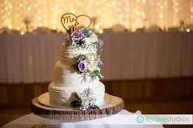 3 Tier Wedding Cake Rustic Style