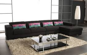 furniture graceful stylish two toned microfiber sectional sofa