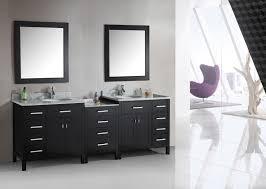 Diy Bathroom Vanity Tower by Brown Varnished Mahogany Wood Open Shelves Bath Vanity With White