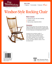 Fine Woodworking's Windsor-Style Rocking Chair Plan: Editors ...