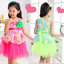 New Fashion 2014 Summer Flower Baby Girl Dress Cute Toddler Party Children