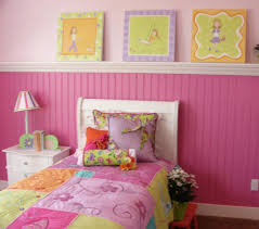 Cheerful Interior Design Ideas For Kids Room Themes Modern Pink Wallpaper Bedroom