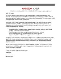 Best Graphic Designer Cover Letter Examples