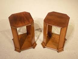 A Good Pair Of Teak Art Deco Period Colonial Side Tables