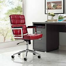 Modway Furniture Portray Highback Upholstered Vinyl Office Chair In Red Padded Desk Chair No Wheels Belleze Modern Highback Ribbed Upholstered Conference Office Red Leather Ergonomic Design Swivel Computer Hon Managerial With Loop Arms Brown Vl402 By Furmax High Back Adjustable Armrestsexecutive Pu Task Lumbar Support Black Chesterfield Style Walnut Overstuffed Executive Fully 2xhome White Deluxe Professional Tall Comfortable Cushion Details About Armless Wood Base Wheel Fniture Flash Leather Swivel Office Chair Labafantalleorg Hotel Esther 5020 Dc1 Lugo