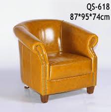 China Brown High Quality Living Room Leather Sofa Chair (618 ... Chair Leather High Back Chairs Living Room Accent Wingback Hcom Vintage Wing Tufted Brown Or Grey Home Done 2 Ding Upholstered Durable Top Grain Armchair Shop Belleze Extra Overstuffed Contemporary Full Recliner Chesterfield Embroidered Elements Queen Buy Fniture Elegant Appearance Product 10 Funiture Armless With Very Short Wooden Bellagio And Mattress Store 20 Best Of Modern For Guiadokartingeu Ottoman For Sale At 1stdibs