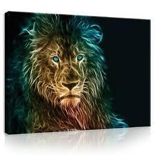 details zu wandbilder wohnzimmer abstrakt löwe leinwand canvas bilder kunstdruck 84