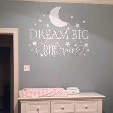 Dream Big Little One Quotes Wall Decal Nursery Sticker Baby Bedroom Art Decor Kids Stars Decals In Stickers From Home