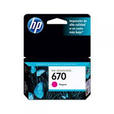 Cartucho HP 670 Magenta CZ115AB 4 Ml