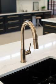 Articulating Kitchen Sink Faucet by Delta Trinsic Faucet In Champagne Bronze Kitchen By Design