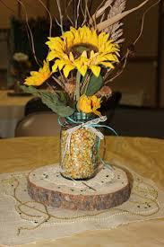 Graduation Table Decor Ideas by Sunflower Table Centerpieces Dinomomma Decoration