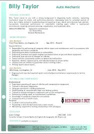 A Good Resume Example 2017 Combined With Mechanic To Frame Astonishing Best Examples Australia 285