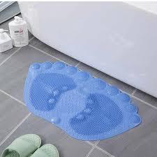 bad matte anti slip fuß form dusche matte pvc weich dusche bad teppich bäder für bad dusche badewanne matte für küche boden