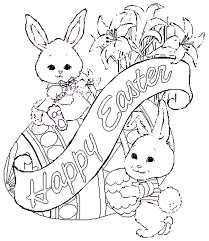 Easter Free Coloring Pages Sheets Printables Pictures For Kids
