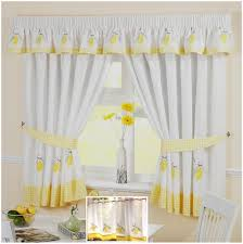 Yellow And Gray Kitchen Curtains by Kitchen W Shaped Tie Up Curtain Awesome Kitchen Curtains Yellow