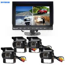 DIYSECUR 4 CH 9inch Car Monitor Truck Tractor Reversing Security ... Heavy Duty Vehicle Truck Bus Backup Camera Sysmwaterproof Night China Semi Commercial Systems With Mobile Dvr And Ecco Echomaster Cameras Inlad Van Company 4chs Monitor Cctv System For Trucks System For And Buses With Super Good 24g Wireless 15 Ir Led Night Vision Reversing Car Truck Camera Amazoncom Ekylin Builtin Wireless Parking 1224v Quad Load Dump Reversing Dash 3 Falconeye Falcon Car Rearview 4 Sensors Assistance 360 Degree A Or From Www
