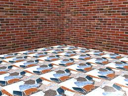 how to make tile floors from scrap materials 4 steps