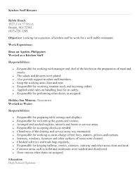 Sample Resume For Restaurant Helper As Well Kitchen Job Description