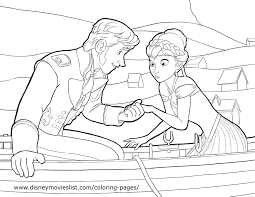 Frozen Movie Coloring Pages Printable