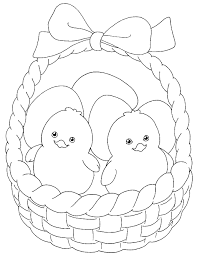 28 Cool Easter Basket Coloring Pages