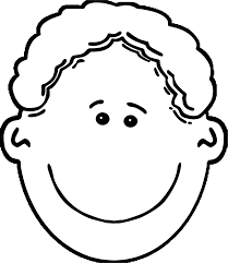 African American Boy Face Coloring Page