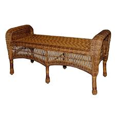 Threshold Patio Furniture Manufacturer by Classic Coastal Avalon Wicker Bench Wicker Com
