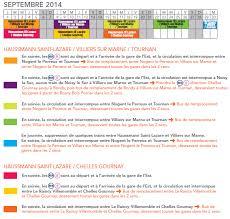 rer e calendrier travaux du 1e juillet au 30 septembre 2014