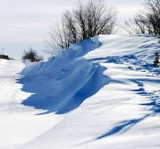 Snow Drift On Diamond Lake Rd