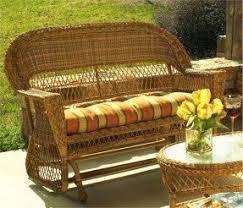 Patio Furniture Loveseat Glider by Wicker Gliders Foter