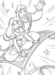 Jasmine And Aladdin Coloring Pages