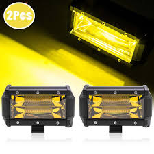 2x 5Inch 96W Yellow LED Work Light Bar Flood Driving Fog Lamp ... Truck Led Headlight 7 With Park Light Adr Approved Lights Submersible Red 23led Light Bar Stop Turn Tail 3rd Brake Lights Bars Headlights Fog Driving Off Road The Roofmounted Led Is Cab Visors Cousin Drive New Aftermarket Used For Most Medium Heavy Duty Trucks Kelsa High Quality Accsories The Trucking Trucklite 15250y 15 Series Yellow Rectangular Marker Clearance 24v Old Benz Truck Tail Rear Lamp Buy 2 Red 4 Round Trailer Brake With Tailgate Signals Xenonhidscom 2x Amber 3 Fish Shape Side Lamp