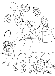 Easter Coloring Pages For Kids Magic Bunny Picture Celebrating The Holidays Drawing