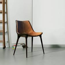 Langham Dining Chair Leather Caramel - Froy.com