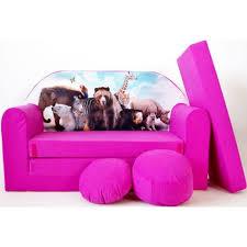 canapé enfant 2 places sofa enfant 2 places se transforme en un canapé lit h8 achat