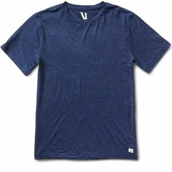 Vuori Men's Strato Slim Fit Crewneck T Shirt - Large, Blue