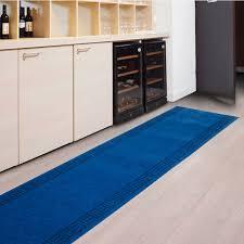 tapis pour cuisine tapis pour cuisine amortissant résistant sur mesure bleu