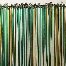 Foil Fringe Curtain Dollar Tree by Green Ribbon Wedding Backdrop Ribbon Curtain Backdrops And