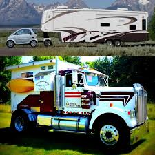 Talk About Miss-match RV Campers!!... This Is So Wrong, If You Had ... Luxury Motorhome Interior Tractor Fifth Wheel Semi Truck Motor Home Pinterest Tractor Your Guide To Toterhomes Showhauler Cversions See Why Heavy Duty Trucks Are Best For Rv Towing With A 5th Wheel Travco Wikipedia 1954 Chevy Cabover Is The Ultimate In Living Quarters Hot Rod Network The Semi Custom Kenworth Youtube Rr Truck Hdt Cversion 14 Extreme Campers Built For Offroading Weight On Back Toterhome