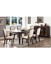 Haylee Collection CM3193TDTB6SC 8 Piece Dining Room Set With 60