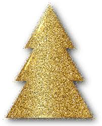 Gold Christmas Tree Clip Art PNG Image