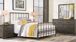 Urban Plains Gray 5 Pc King Metal Bedroom King Bedroom Sets Colors