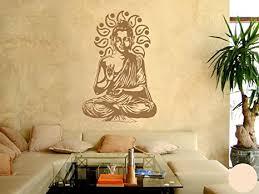 klebefieber wandtattoo buddha b x h 40cm x 60cm farbe creme