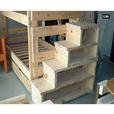 Solid Wood Custom Made Stairs For Bunk Loft Bed USMFS