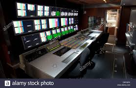 SIS LIVE OB7 Outside Broadcast Truck, Interior Production Area Stock ...