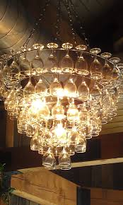 The Art Of Up Cycling Wine Glass Chandeliers Funky Cool Chandelier