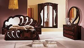 schlafzimmer 180x200cm mahagoni braun barock italien